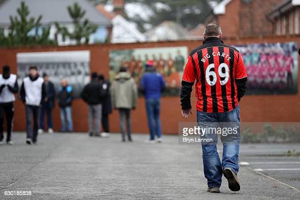 Bournemouth fans arrive at the stadium prior to the Premier League match between AFC Bournemouth and Southampton at the Vitality Stadium on December...