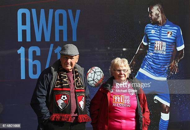 Bournemouth fans wait outside the ground prior to the Premier League match between AFC Bournemouth and Hull City at Vitality Stadium on October 15...