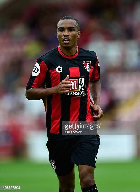 Bournemouth goalscorer Junior Stanislas in action during the Pre season friendly match between Exeter City and AFC Bournemouth at St James Park on...