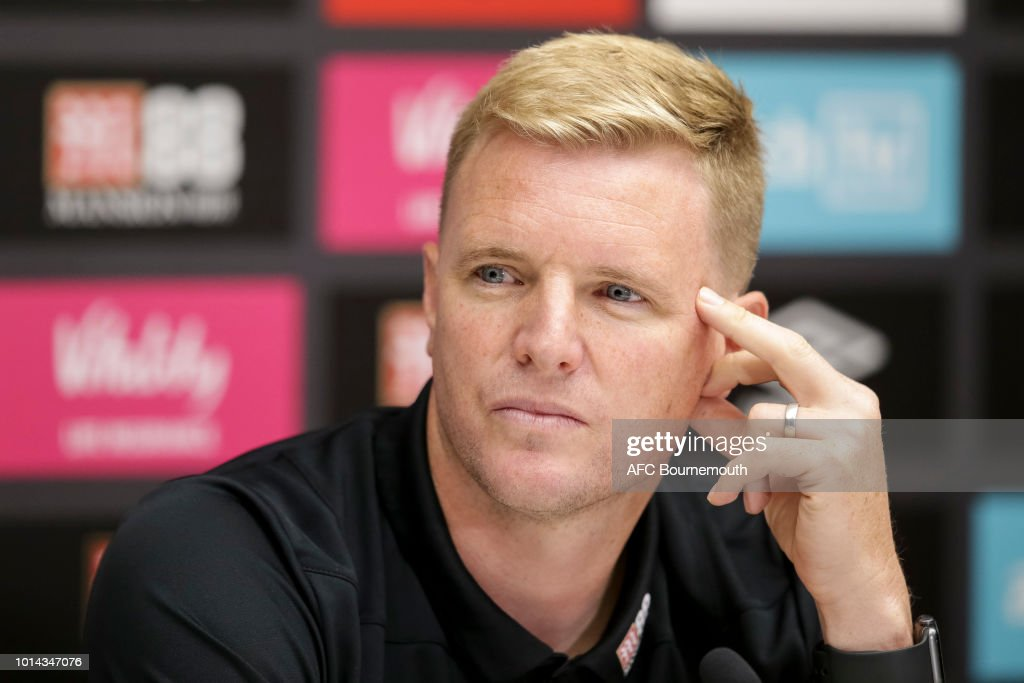 AFC Bournemouth manager Eddie Howe at pre-match press conference at Vitality Stadium on August 10, 2018 in Bournemouth, England.