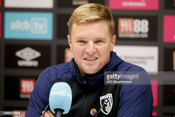 Bournemouth manager Eddie Howe attends a press conference on November 30 2018 in Bournemouth England