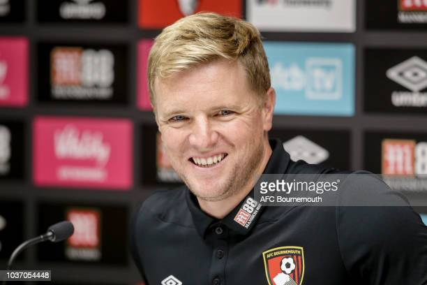 Bournemouth manager Eddie Howe during a press conference at the Vitality Stadium on September 21 2018 in Bournemouth England