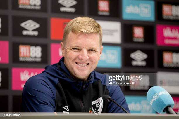 Bournemouth manager Eddie Howe during a press conference at Vitality Stadium on November 9 2018 in Bournemouth England