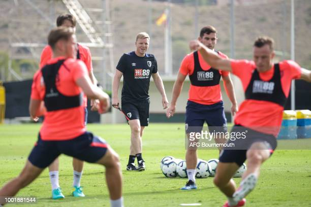 Bournemouth manager Eddie Howe during preseason training on July 19 2018 in La Manga Spain