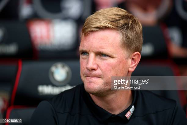 Bournemouth manager Eddie Howe during the PreSeason Friendly match between AFC Bournemouth and Real Betis at Vitality Stadium on August 3 2018 in...
