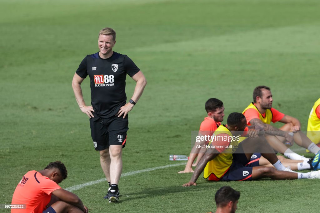 Bournemouth manager Eddie Howe during training session at the clubs pre-season training camp at La Manga, Spain on July 12, 2018 in La Manga, Spain.