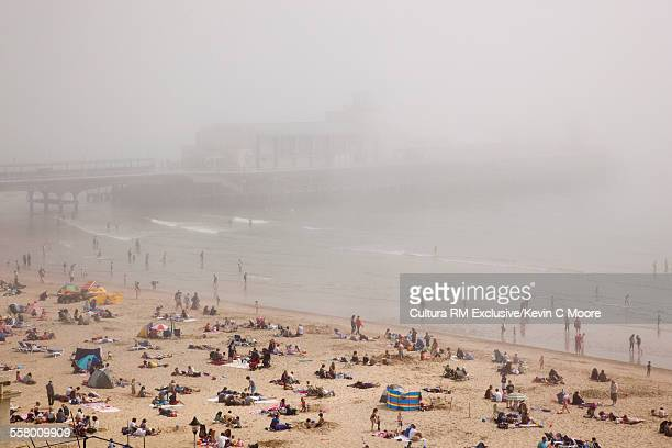 Bournemouth pier in fog, Bournemouth, England