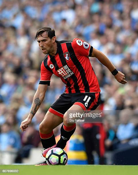 Bournemouth player Charlie Daniels in action during the Premier League match between Manchester City and AFC Bournemouth at Etihad Stadium on...