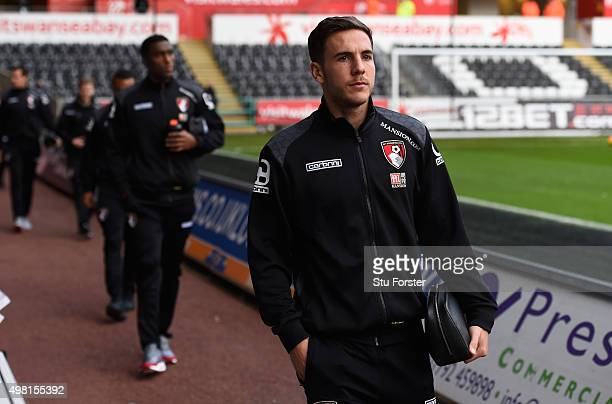 Bournemouth player Dan Gosling arrives at the ground before the Barclays Premier League match between Swansea City and AFC Bournemouth at Liberty...