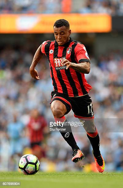 Bournemouth player Joshua King in action during the Premier League match between Manchester City and AFC Bournemouth at Etihad Stadium on September...