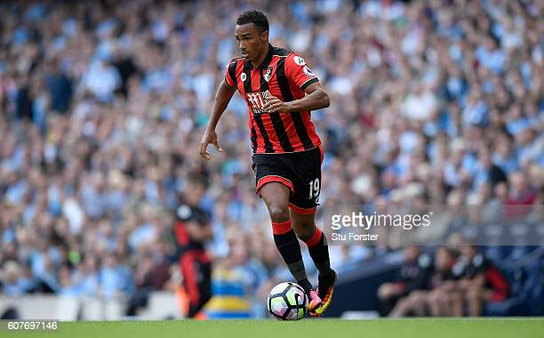 Bournemouth player Junior Stanislas in action during the Premier League match between Manchester City and AFC Bournemouth at Etihad Stadium on...