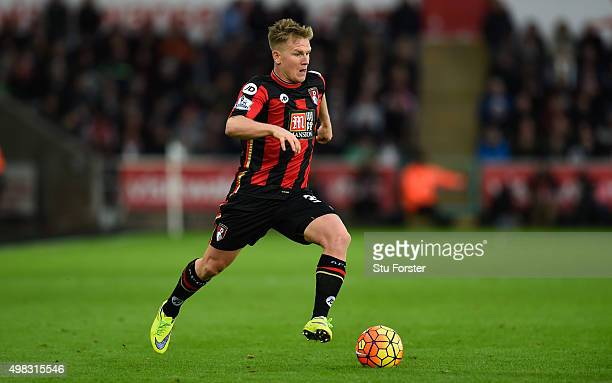 Bournemouth player Matt Ritchie in action during the Barclays Premier League match between Swansea City and A.F.C. Bournemouth at Liberty Stadium on...