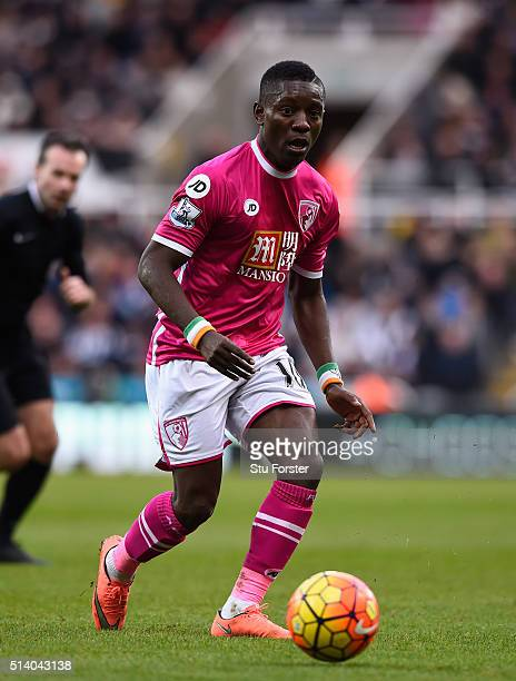 Bournemouth player Max Gradel in action during the Barclays Premier League match between Newcastle United at AFC Bournemouth at St James' Park on...