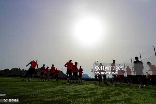 Bournemouth players during preseason training on July 19 2018 in La Manga Spain