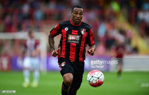 Bournemouth striker Callum Wilson in action during the Pre season friendly match between Exeter City and AFC Bournemouth at St James Park on July 18...