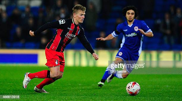 Bournemouth striker Matt Ritchie in action during the Sky Bet Championship match between Cardiff City and AFC Bournemouth at Cardiff City Stadium on...