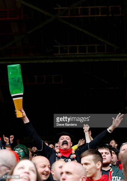Bournemouth supporters soak up the atmosphere prior to the Sky Bet Championship match between Charlton Athletic and AFC Bournemouth at The Valley on...