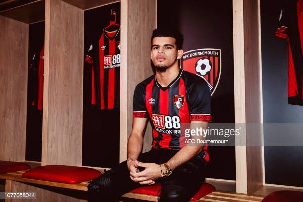 Bournemouth unveil new signing Dominic Solanke at Vitality Stadium on January 4 2019 in Bournemouth England
