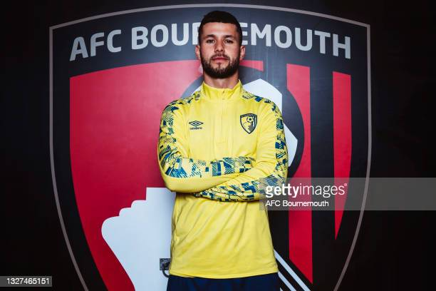 Bournemouth unveil new signing Emiliano Marcondes at Vitality Stadium on July 07, 2021 in Bournemouth, England.