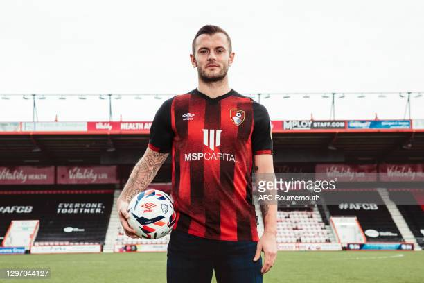 Bournemouth unveil new signing Jack Wilshere at Vitality Stadium on January 18, 2021 in Bournemouth, England.