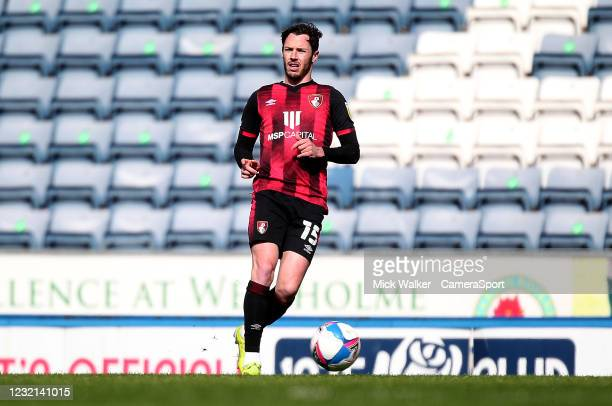 Bournemouth's Adam Smith during the Sky Bet Championship match between Blackburn Rovers and AFC Bournemouth at Ewood Park on April 5, 2021 in...
