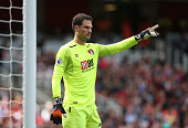 london england bournemouths asmir begovic during