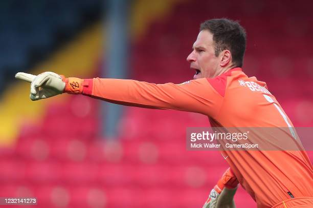 Bournemouth's Asmir Begovic during the Sky Bet Championship match between Blackburn Rovers and AFC Bournemouth at Ewood Park on April 5, 2021 in...
