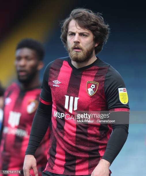 Bournemouth's Ben Pearson during the Sky Bet Championship match between Blackburn Rovers and AFC Bournemouth at Ewood Park on April 5, 2021 in...