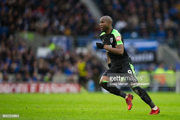 Bournemouth's Benik Afobe during the Premier League match between Brighton and Hove Albion and AFC Bournemouth at Amex Stadium on January 1 2018 in...