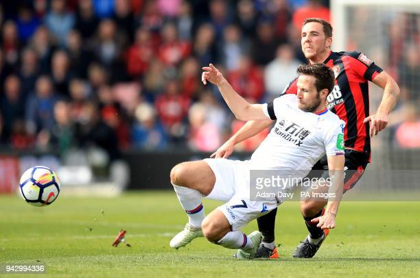 AFC Bournemouth's Dan Gosling and Crystal Palace's Yohan Cabaye battle for the ball during the Premier League match at the Vitality Stadium...