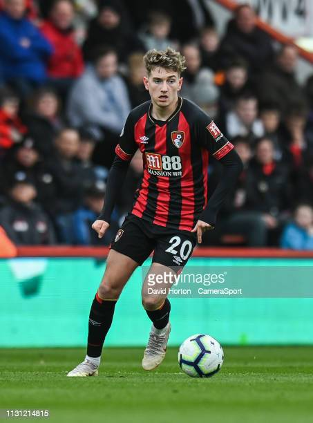 Bournemouth's David Brooks during the Premier League match between AFC Bournemouth and Newcastle United at Vitality Stadium on March 16 2019 in...