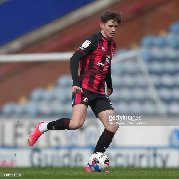 Bournemouth's David Brooks during the Sky Bet Championship match between Blackburn Rovers and AFC Bournemouth at Ewood Park on April 5, 2021 in...