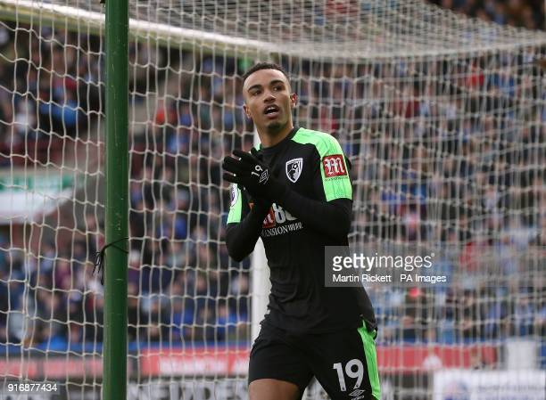 AFC Bournemouth's Junior Stanislas celebrates scoring his teams equalising goal during the Premier League match at the John Smith's Stadium...