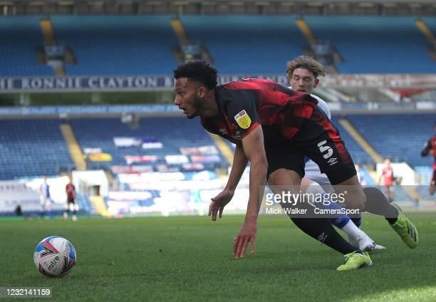 Bournemouth's Lloyd Kelly during the Sky Bet Championship match between Blackburn Rovers and AFC Bournemouth at Ewood Park on April 5, 2021 in...