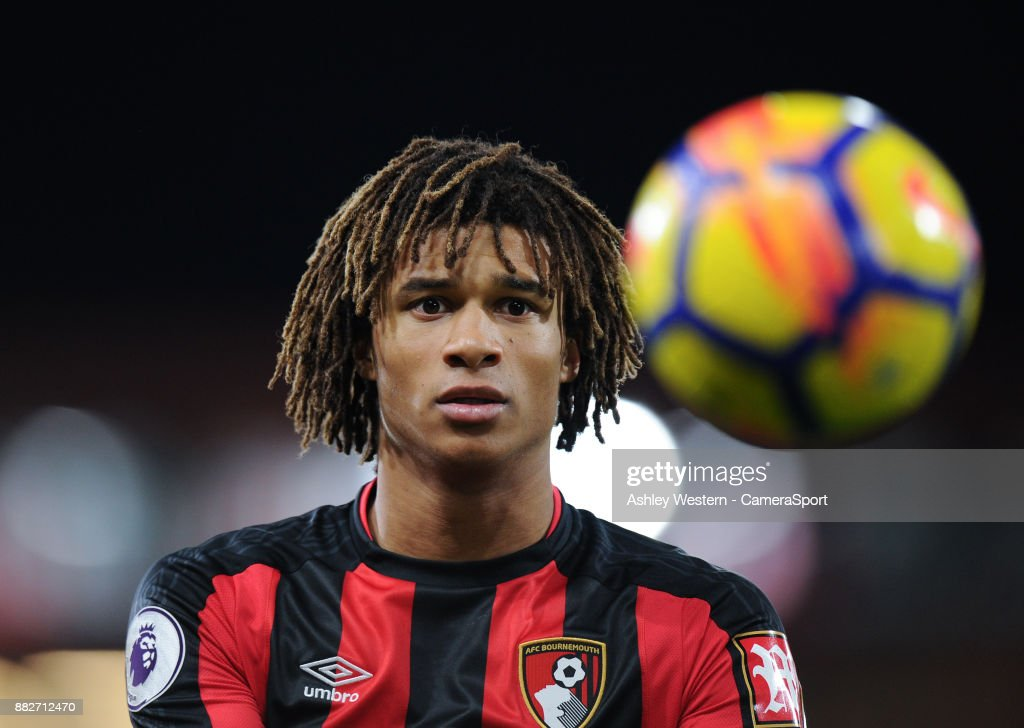 Bournemouth's Nathan Ake during the Premier League match between AFC Bournemouth and Burnley at Vitality Stadium on November 29, 2017 in Bournemouth, England.