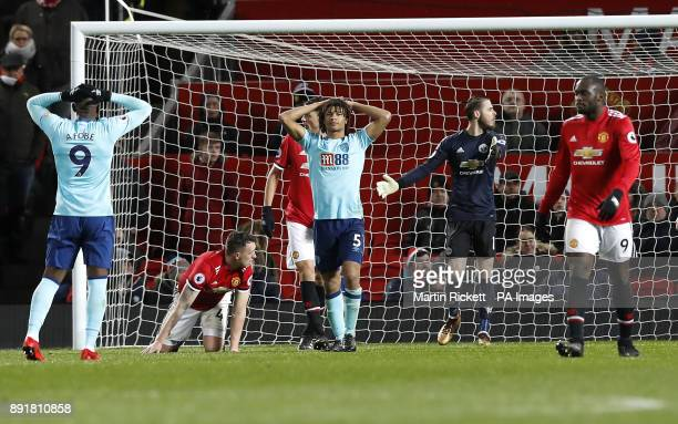 AFC Bournemouth's Nathan Ake reacts after his missed chance during the Premier League match at Old Trafford Manchester