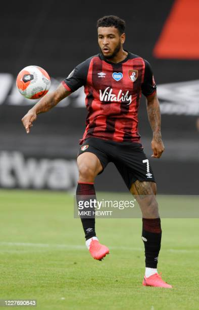 Bournemouth's Norwegian striker Joshua King controls the ball during the English Premier League football match between Bournemouth and Southampton at...