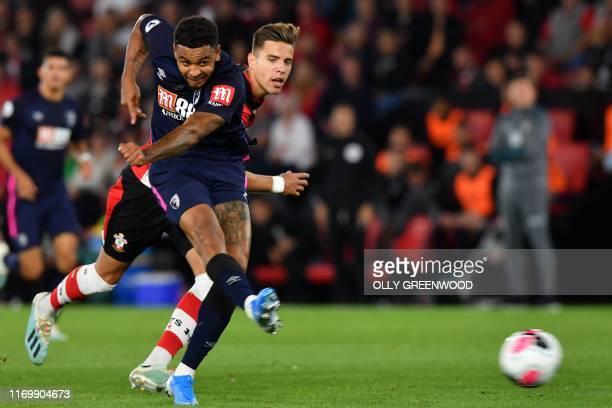 TOPSHOT Bournemouth's Norwegian striker Joshua King has an unsuccessful shot during the English Premier League football match between Southampton and...