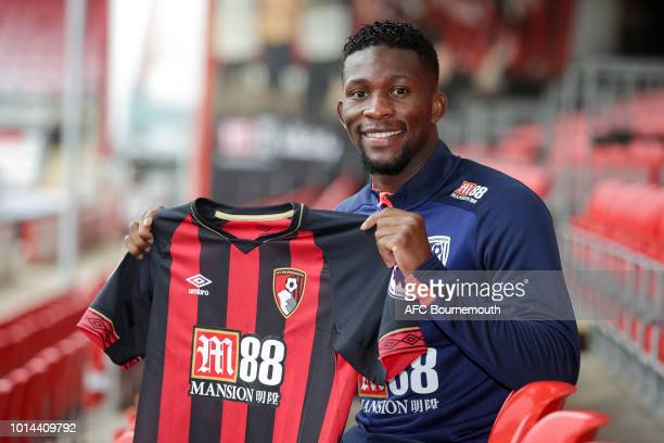 Bournemouth's record signing Jefferson Lerma during press conference at Vitality Stadium on August 10, 2018 in Bournemouth, England.