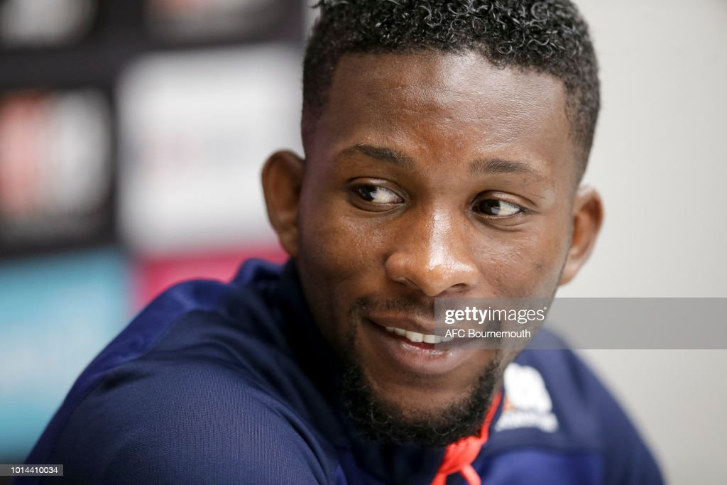 AFC Bournemouth's record signing Jefferson Lerma during press conference at Vitality Stadium on August 10, 2018 in Bournemouth, England.