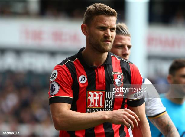 Bournemouth's Simon Francis during EPL Premier League match between Tottenham Hotspur and AFC Bournemouth at White Hart Lane London 15 April 2017
