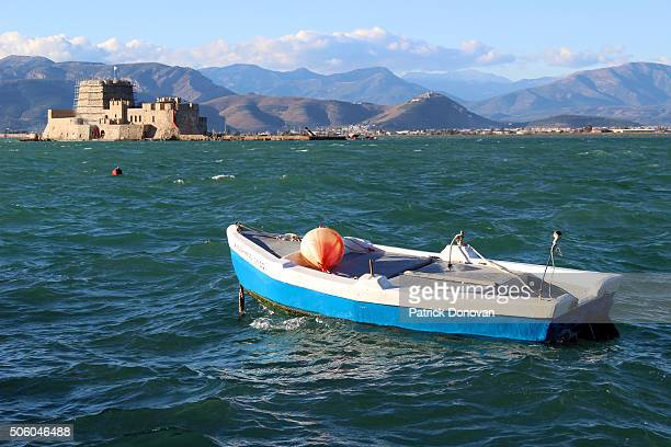 Bourtzi sea castle in Nafplio, Greece
