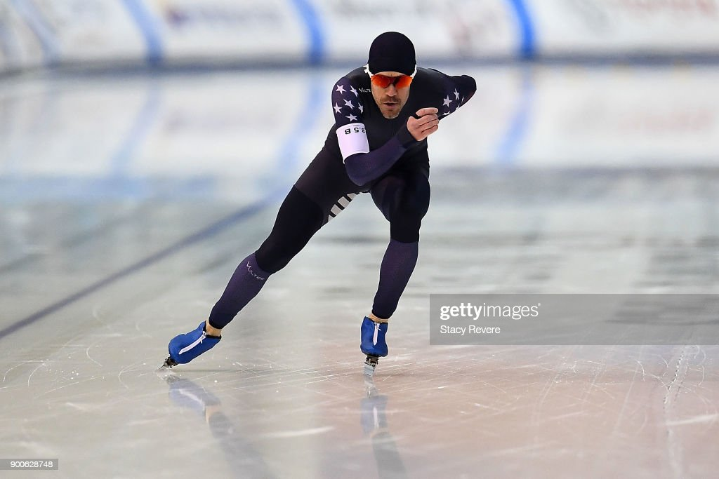KC Boutiette competes in the Men's 5000 meter event during the U.S. Speed Skating Long Track Olympic Trials at the Pettit National Ice Center on January 2, 2018 in Milwaukee, Wisconsin.