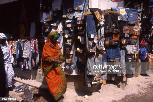 Boutique de jeans a Zanzibar Tanzanie