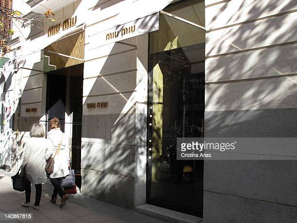 Boutique of Miu Miu in Madrid Miu Miu is a high fashion brand from the Prada fashion house opened in 1993 and headed by Miuccia Prada Claudio Coello...