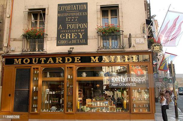 Boutique of the Maille mustard in Dijon France In August 2006IIllustration boutique of Maille Mustard in Dijon one of the specialties of the city