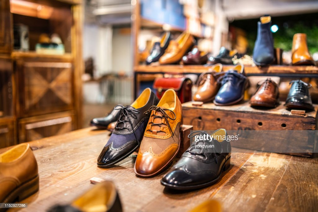 Boutique shoes in a store : Stock Photo