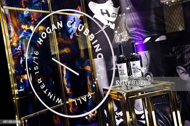 Boutique Shop window during 'La Vendemmia 2015' The World's Finest Wine Lifestyle Experience on October 8 2015 in Milan Italy