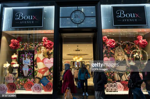 Boux Avenue store seen in London famous Oxford street Central London is one of the most attractive tourist attraction for individuals whose willing...