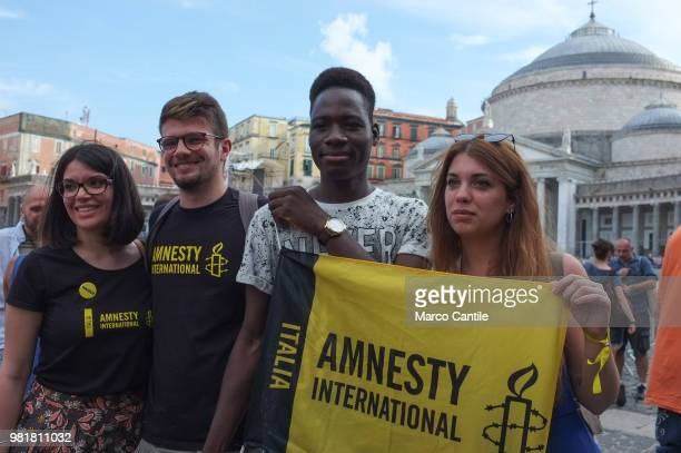 Bouyagui Konate during the demonstration in the Plebiscite square in his solidarity with members of Amnesty International Bouyagui Konate is the...